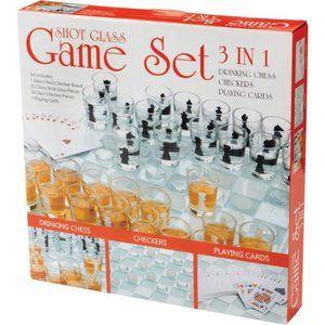 Maxam™ 3-in-1 Shot Glass Chess Set